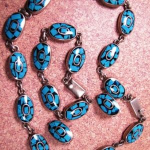 Vintage Sterling Necklace, Bracelet, Earrings Set